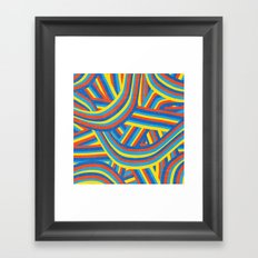Happy Roads Framed Art Print