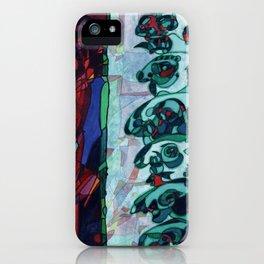 A Committee Looks Upon The Vortex (Maelga Turquoise Turbulante) iPhone Case