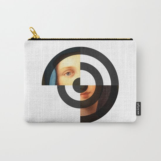 Abstract rings painting Carry-All Pouch