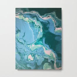 Oceanic Flow Metal Print