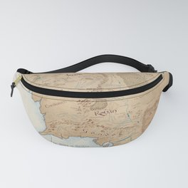 Third Age Map // Fantasy Map Fanny Pack