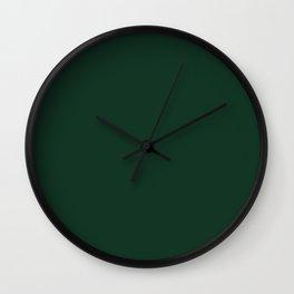 Phthalo Green Wall Clock