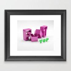 Flat Top Framed Art Print