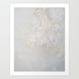 Flowers in white Art Print