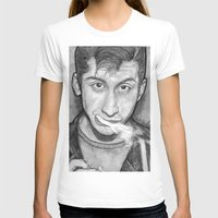 alex turner T-shirts featuring Alex Turner Drawing  by Not Too Shabby