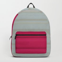 Pattern Pink & Gray Backpack