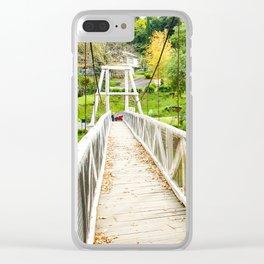 Warburton Swing Bridge, Victoria Clear iPhone Case