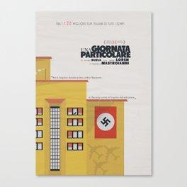 Una giornata particolare, alternative movie poster, Marcello Mastroianni, Sophia Loren, italian film Canvas Print