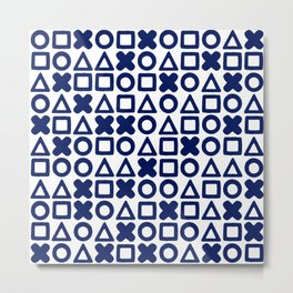 A weird game of tic tac toe Metal Print