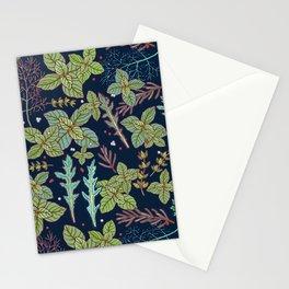 dark herbs pattern Stationery Cards