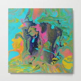 Fluid - Seventies Metal Print