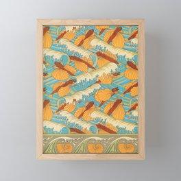 Flying Fish Vintage Print Framed Mini Art Print