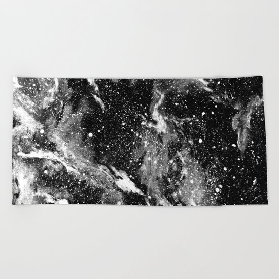 Galaxy (B/W) Beach Towel