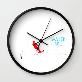 Water Ski Heartbeat Water Skiing Parasailing Gift  Wall Clock