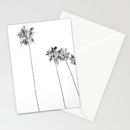 Minimal Black and White Palm Trees Stationery Cards