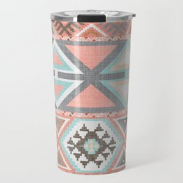 Aztec Artisan Tribal in Pink Travel Mug