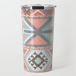 Aztec Artisan Tribal in Pink Travel Mug