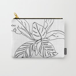 PLANT PORTRAITS - ORNATA PINSTRIPE - COOPER  AND COLLEEN Carry-All Pouch