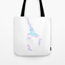 Word Cloud Gymnast Tote Bag
