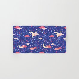 Constellation Stars and Moons in Neon Pastels Hand & Bath Towel