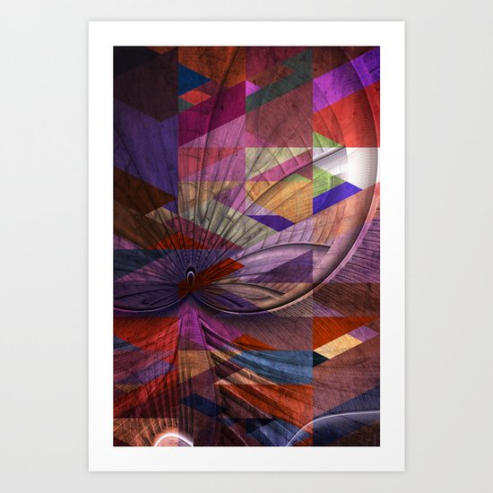 Triangle and Fractal Design Art Print