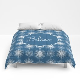 Winter Snow Believe Comforters