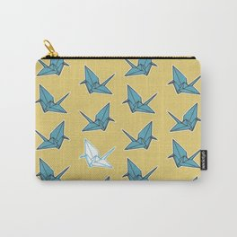 PAPER CRANES BABY BLUE AND YELLOW Carry-All Pouch