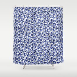 Watercolor Blueberries Shower Curtain