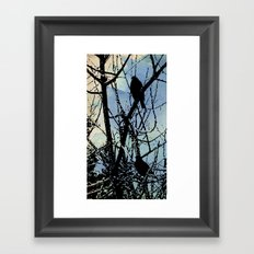on a Winter's wing... Framed Art Print