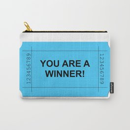 Blue Ticket Carry-All Pouch