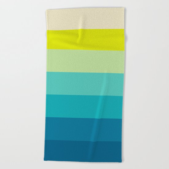 colored stripes 04 Beach Towel