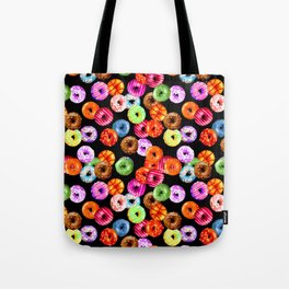 Multicolored Yummy Donuts Tote Bag