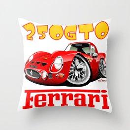Ferrari GTO250 caricature Throw Pillow