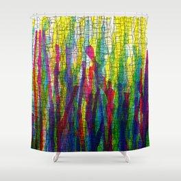 stripes traffic 2 Shower Curtain