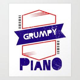 Piano Player Music Teacher Jazz Blues Art Print