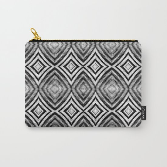 Black White Diamond Pattern Carry-All Pouch