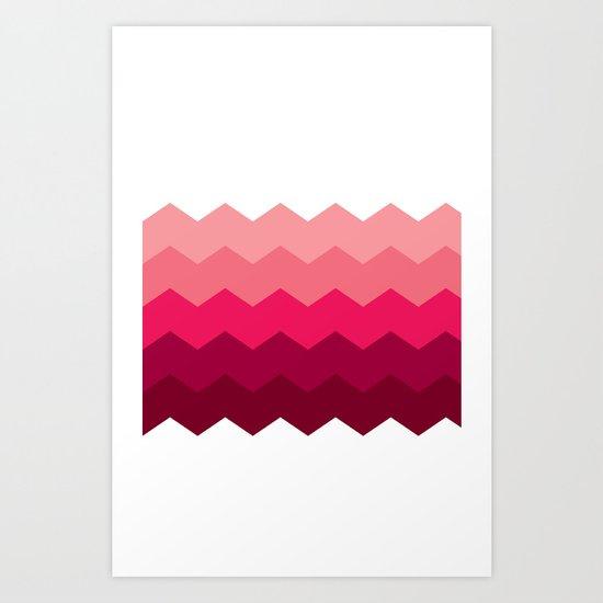 Chevron Pink Art Print