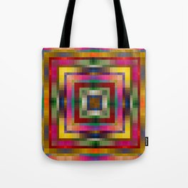 WOODSTOCK bright bold rainbow colours abstract design Tote Bag