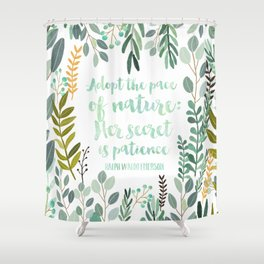 Emerson Quote Shower Curtain