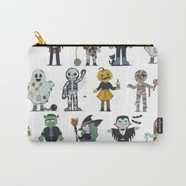 Halloween cute characters illustration Carry-All Pouch