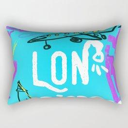 LON LONDON airports code Rectangular Pillow