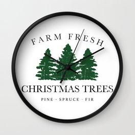 Farm Fresh Christmas Trees Wall Clock