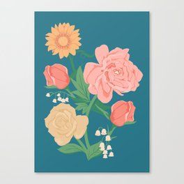 Paint by Number Florals Canvas Print