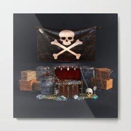 Pirate Treasure Metal Print