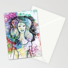 doodle girl Stationery Cards