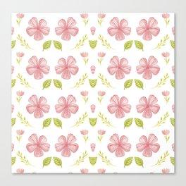 Beautiful Fashion Flower Pattern Art Canvas Print