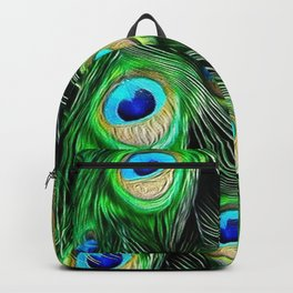 PEACOCK FEATHERS Backpack