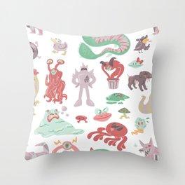 Battle Against Some Weird Opponents Throw Pillow
