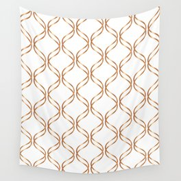 Double Helix - Rose Gold #676 Wall Tapestry