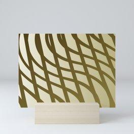 Sepia swing lines Mini Art Print